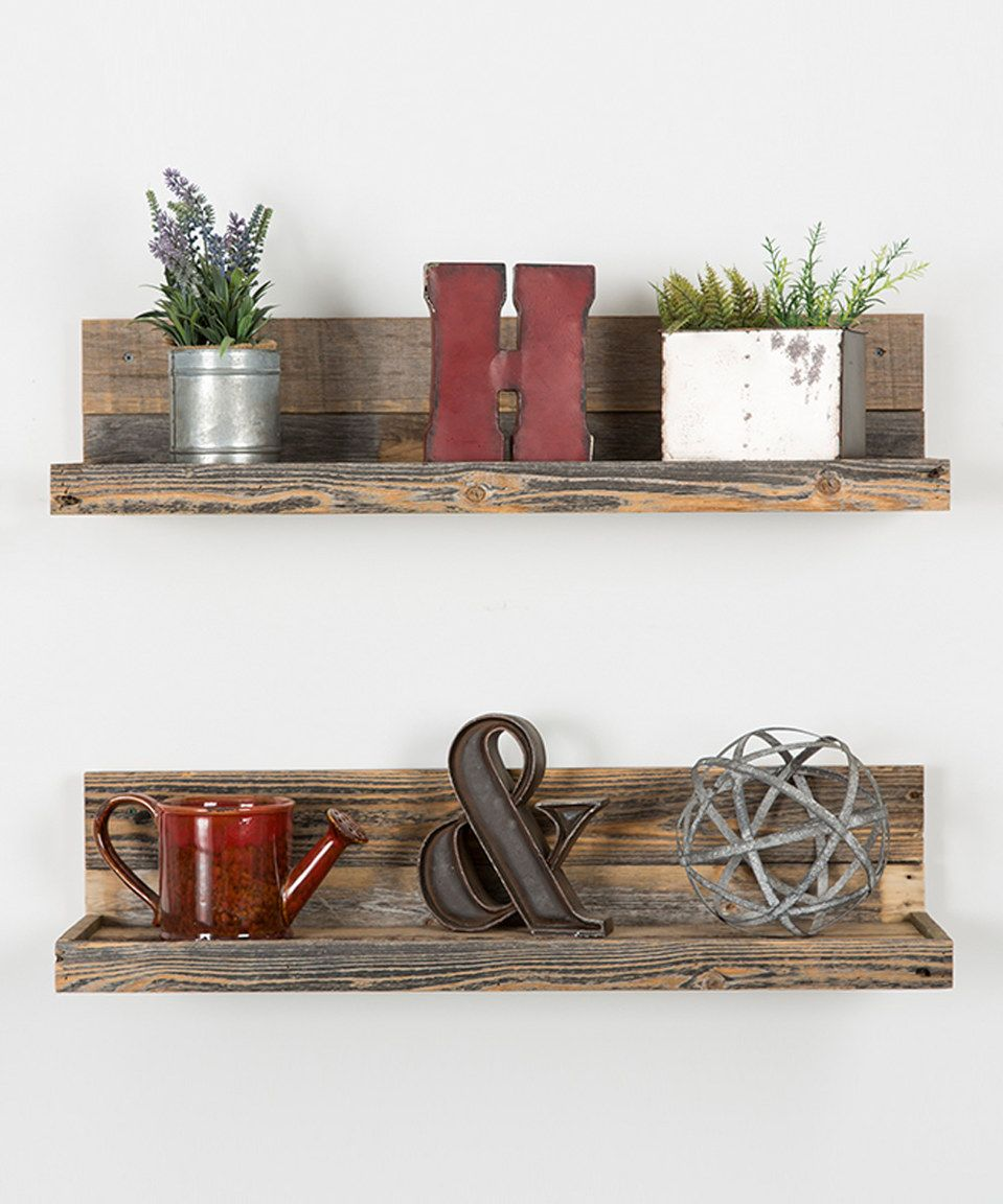 Another Great Find On #zulily! Barnwood Floating Shelves