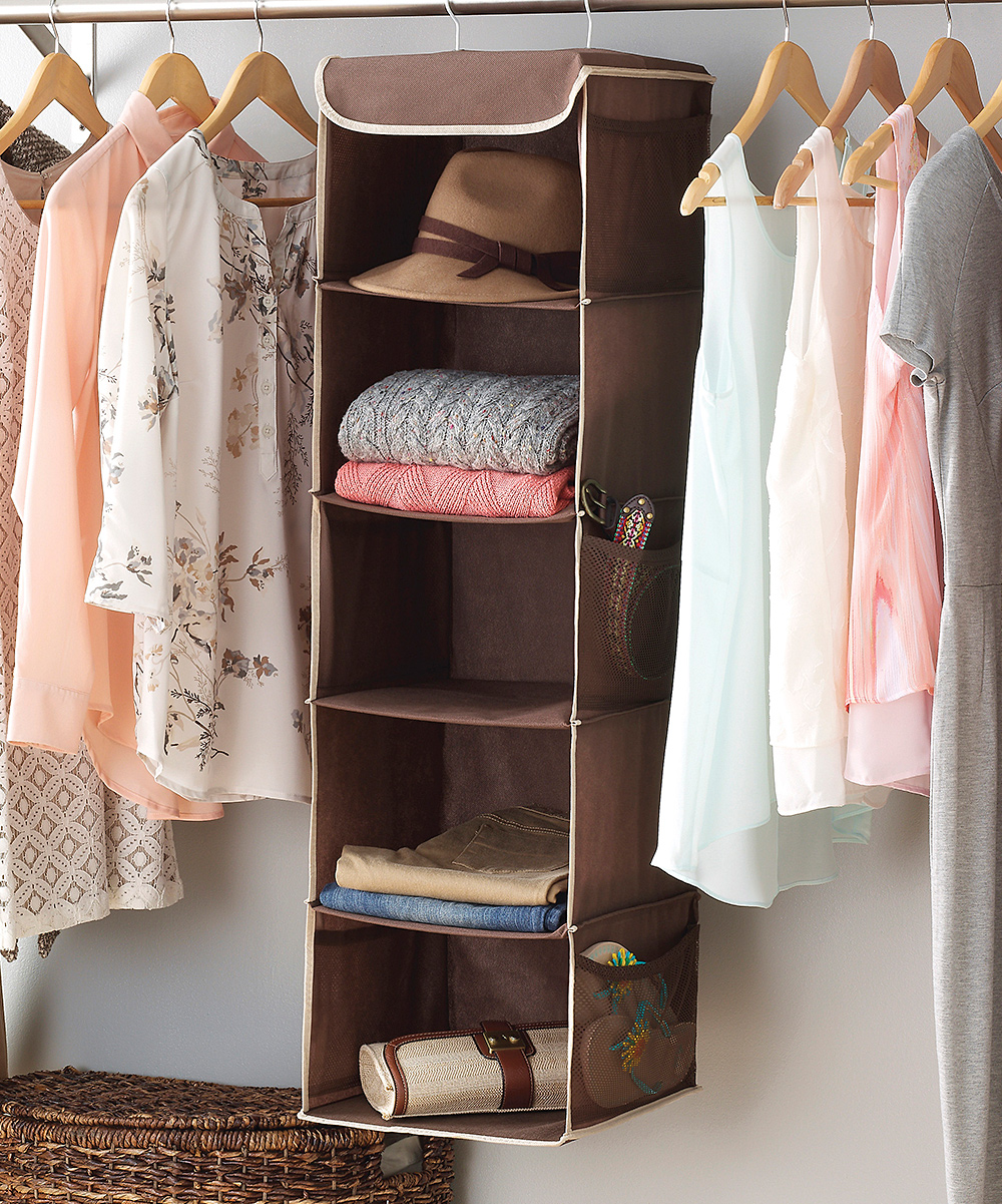 Whitmor Brown Hanging Accessory Shelves