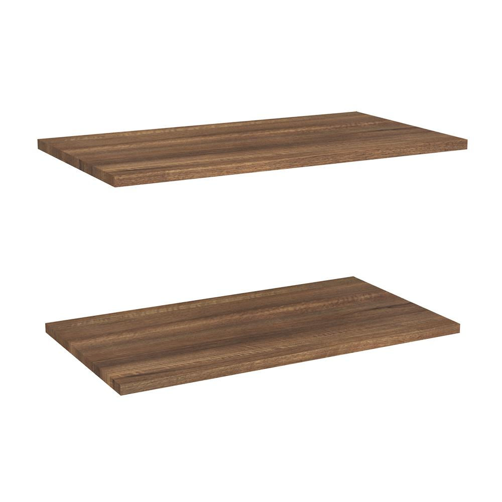 Closetmaid Impressions 24 In W Walnut Laminate Extra Shelves (2-pack)
