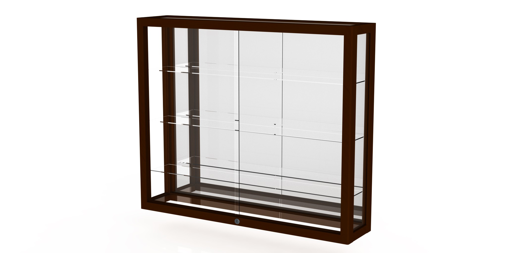 Waddell Heirloom Series 8903m 3'w Wall Case Hardwood Finish With Shelves -  Multiple Options