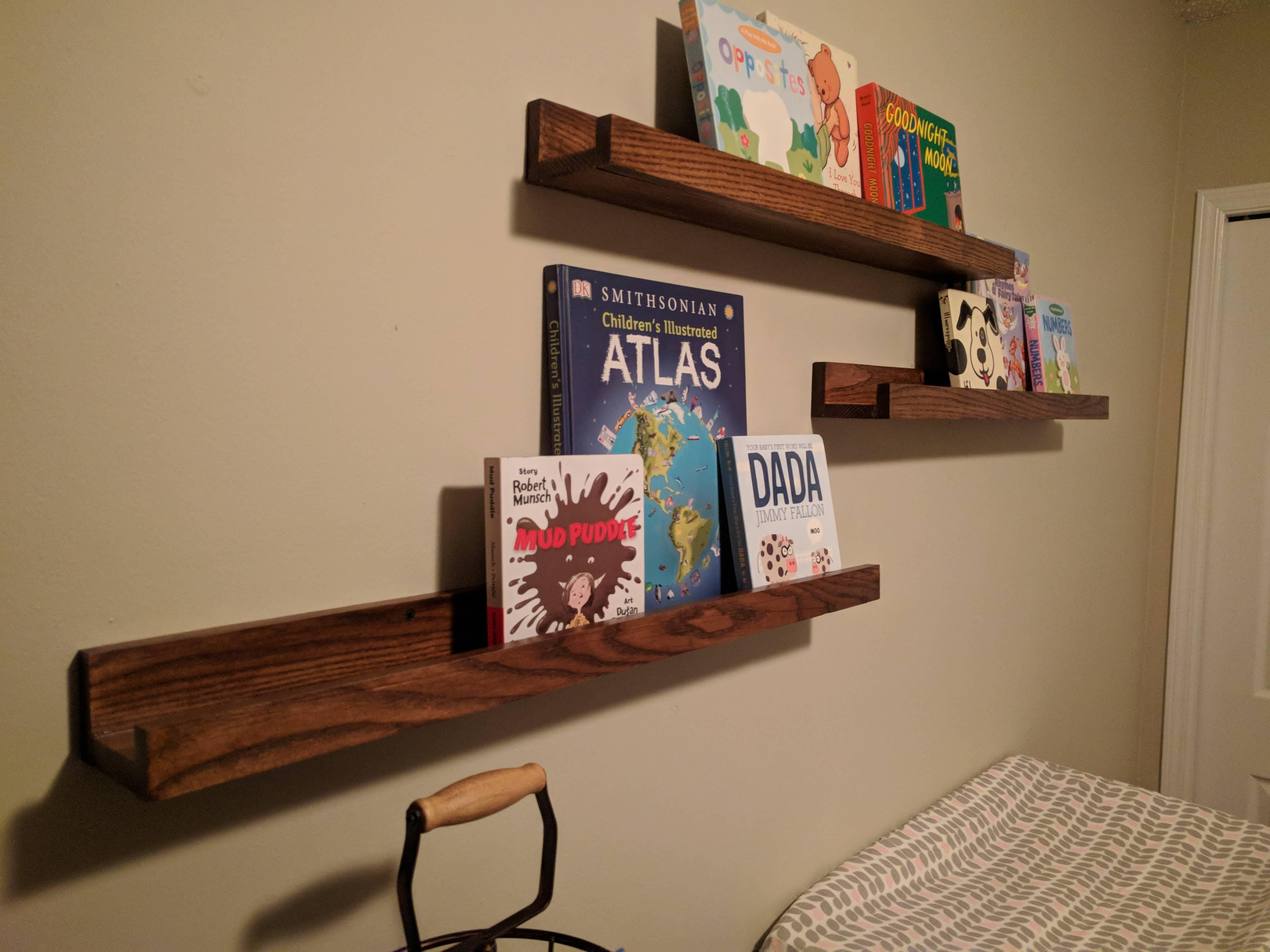 Built A Couple Shelves For My Little Girl That Is On The Way